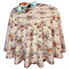 The oilcloth detachable on a table Tea service,