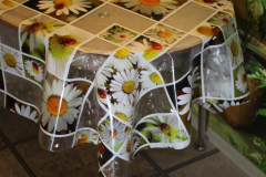 Cloth oilcloth silicone 3D effect of the Camomile