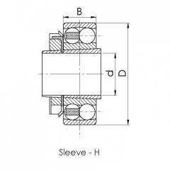 Bearing 1212K+H212.CRF-P