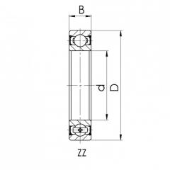 Bearing 61917-M.CRF-I