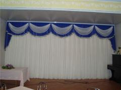 Curtain. Theatrical and cinema requisite.