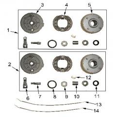 Drum brake of Sport Energy F-1 125