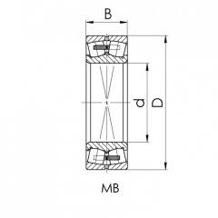 Bearing 22316-MBW33.NOB-P