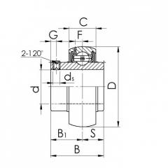 Bearing 22316K-MBW33+H2316.CRF-I