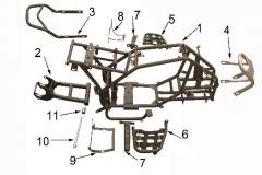 Frame body of Sport Energy F-1 125