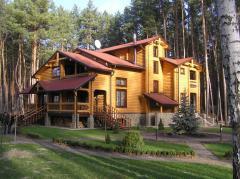 """Деревянные дома, дачи, бани, малые архитектурные формы из оцилиндрованного бревна. Проектируем и строим под """"ключ"""""""