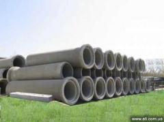 Pipes concrete goods in assortmen
