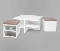 Coffee table with two curbstones