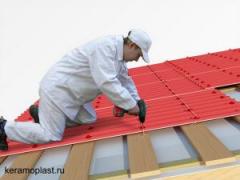 Tile. Roofing works
