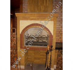 Fireplace to bake a grill finishing from