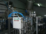 Equipment for lines of pouring of liquids and