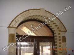 Плитка из известняка, ракушняка для обрамления окон