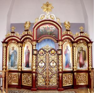 Iconostasis church from the producer, production,