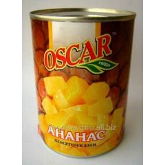 Ананасы Оscar кусочками 580мл
