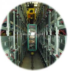 The system automated managements of a warehouse