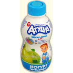 Agush's yogurt children's apple pear of