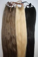 Шиньон из натуральных волос компания OLARI HAIRS