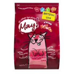 Adult cat food Meow meat 400 g
