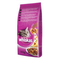 Forage for cats of Whiskas with a lamb of 14 kg