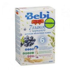 Porridge of 7 cereals Bebi with bilberry 200 of