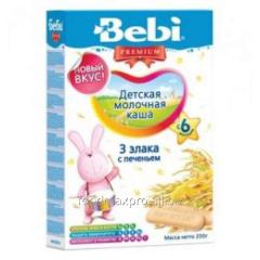 Bebi Premium porridge 3 cereals with cookies 200g
