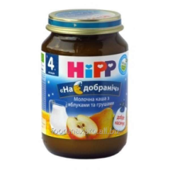 Hipp porridge dairy with apples and pears of 190 g