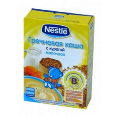 Buckwheat cereal Nestle dairy with dried apricots