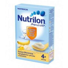 Porridge corn and rice Nutrilon dairy with banana