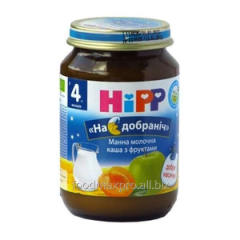Hipp cream of wheat dairy with fruit 190 of
