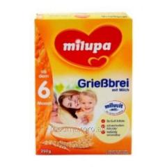 Cream of wheat of Milupa of dairy 230 g