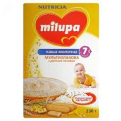 Porridge multicereal Milupa dairy with cookies