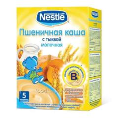 Porridge wheaten Nestle dairy with pumpkin 250 of