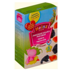 Rice porridge Heinz dried apricots prunes of 200 g