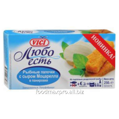 Sticks fish Vici with cheese the Mozzarella of