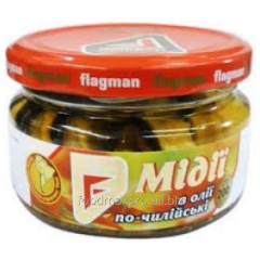 Flagman mussels in oil po-Chiliyski with 200 g