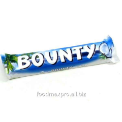 Bounty bar with pulp of a coco in milk chocolate