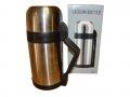 Thermos metal with a glass flask