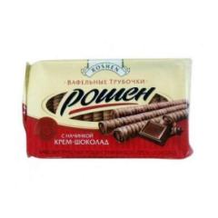 Трубочки Roshen вафельные крем-шоколад 222г