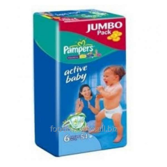 Diapers Pampers Junior + Jumbo Pack 54sht/up
