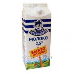 Milk the pasteurized Prostokvashino 2,5% of