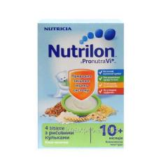 Porridge 4 cereals of Nutrilon dairy with rice