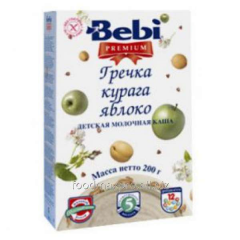 Buckwheat cereal Bebi Premium dairy dried apricots