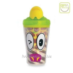 Small bottle for Safari drink with straws 9009