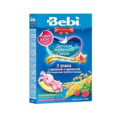 Bebi Premium porridge 3 cereals with raspberry and