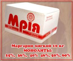 Margarine of soft 10 kg MONOLITHS: To buy 25%,