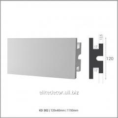 Карниз KD302 для скрытого LED освещения. Материал: