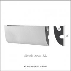 Карниз KD303 для скрытого LED освещения. Материал: