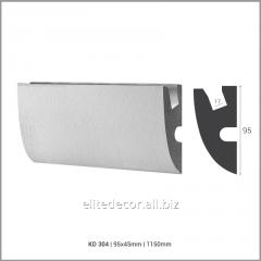 Карниз KD304 для скрытого LED освещения. Материал: