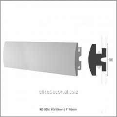 Карниз KD305 для скрытого LED освещения. Материал: