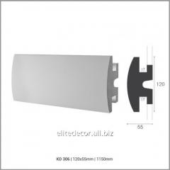 Карниз KD306 для скрытого LED освещения. Материал: